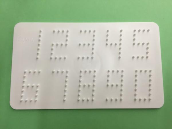 Bügelperlen Zahlen Steckplatte