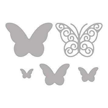 Stanzschablone Schmetterlinge