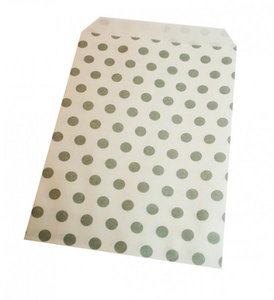 Papiertüten gepunktet grau