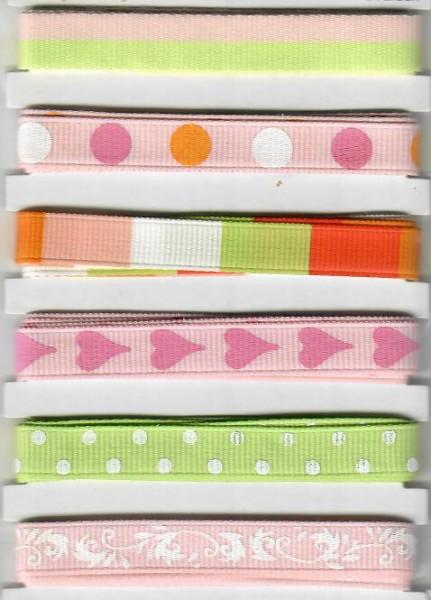 Design Bänder rosa Mix