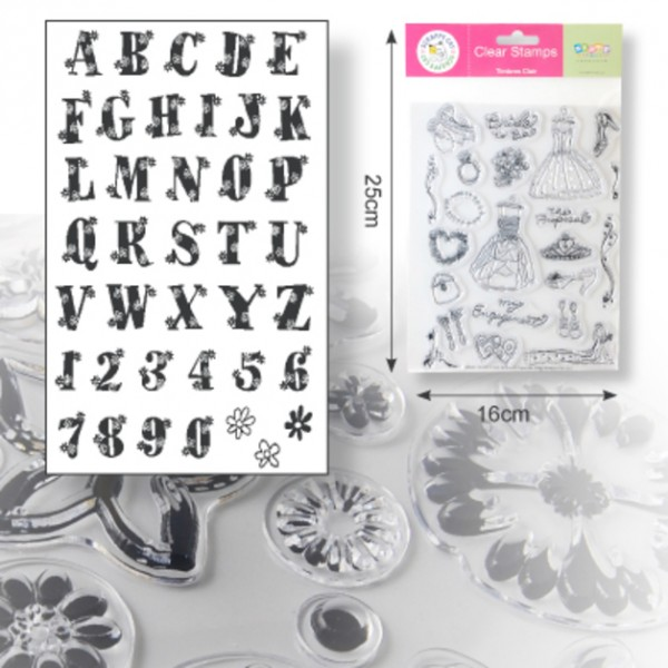 Clearstamp Floral Alphabet