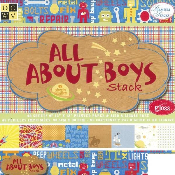 Designpapier Block All about Boys