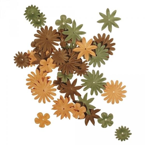Papier Blütenmischung herbst