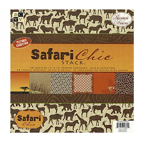 Designpapier Safari Chic
