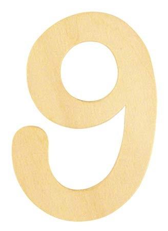 Holzzahl 9