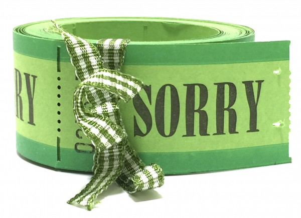 10 Wertmarken SORRY