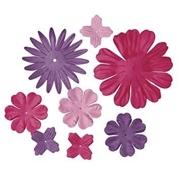 Papier Blütenmischung lila pink