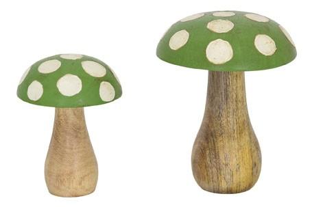 Holz Pilz Set