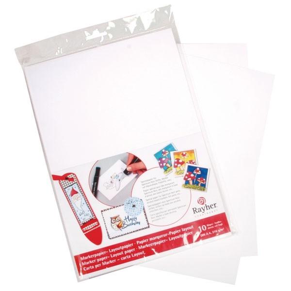 Marker-u. Layoutpapier weiß