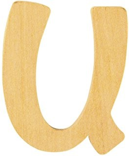 Holzbuchstabe U