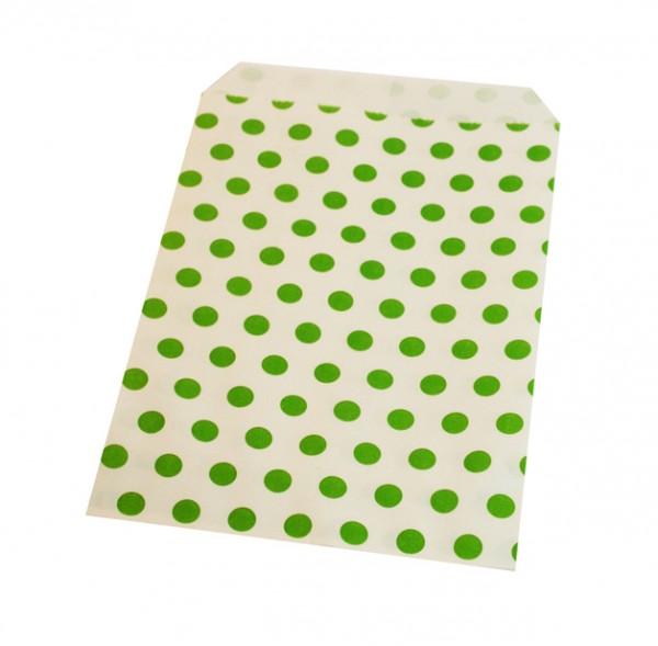 Papiertüten gepunktet grün
