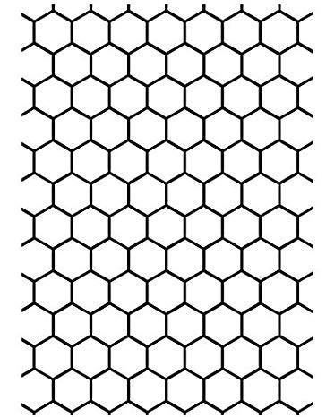 Prägefolder XL honeycomb