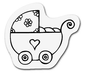 Clearstamp Kinderwagen