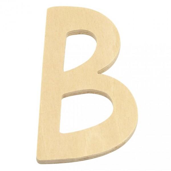 Holzbuchstabe B