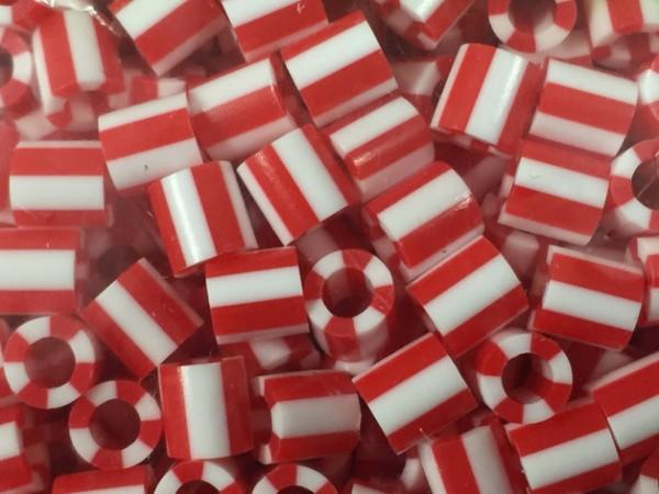 Bügelperlen rot weiß Mix