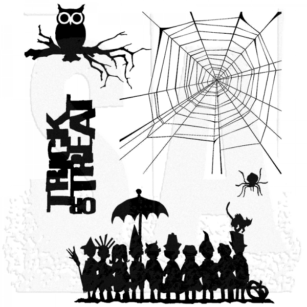 gummistempel stampers anonymous halloween cutouts