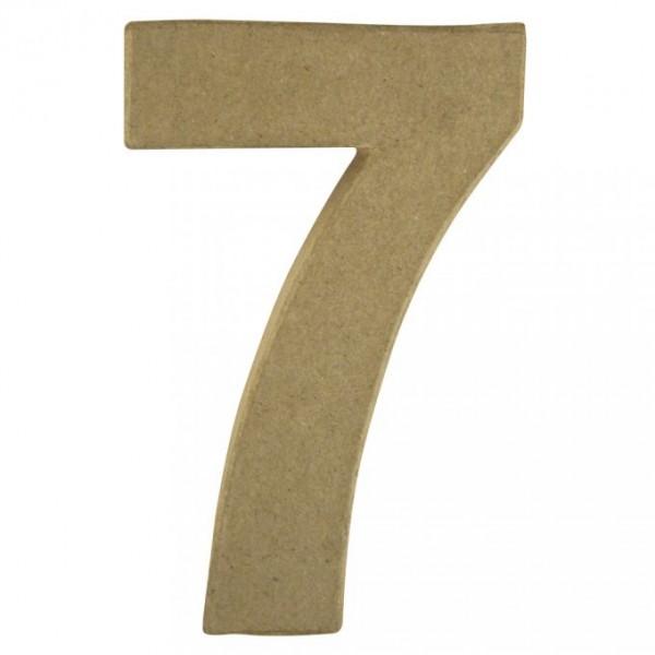 Pappmaché-Zahl 7