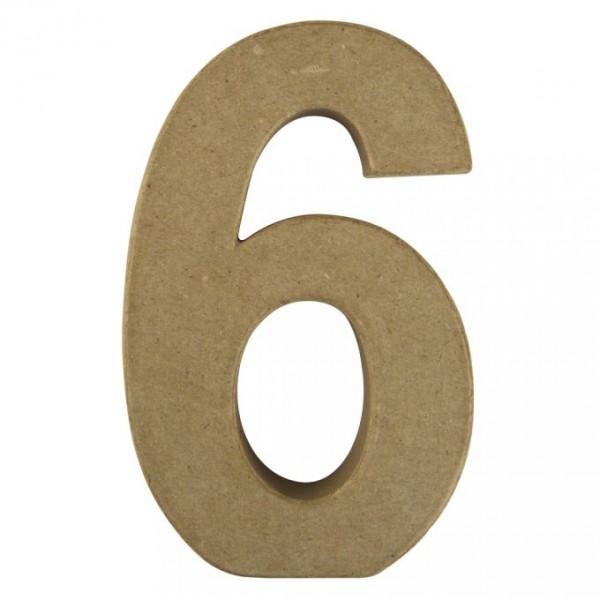Pappmaché-Zahl 6
