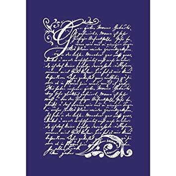 My Style Schablone Vintage Poesie