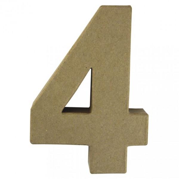 Pappmaché-Zahl 4
