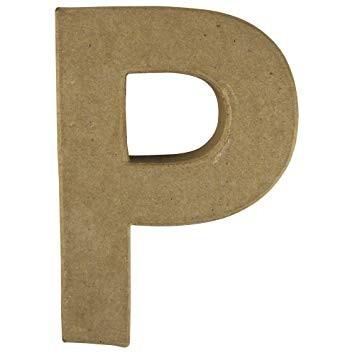 Pappmaché-Buchstabe P