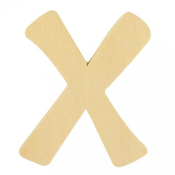 Holzbuchstabe X