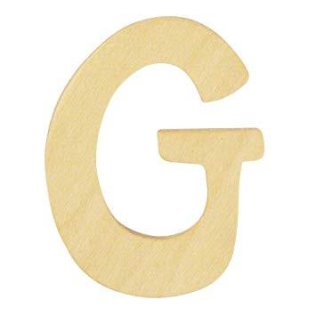 Holzbuchstabe G