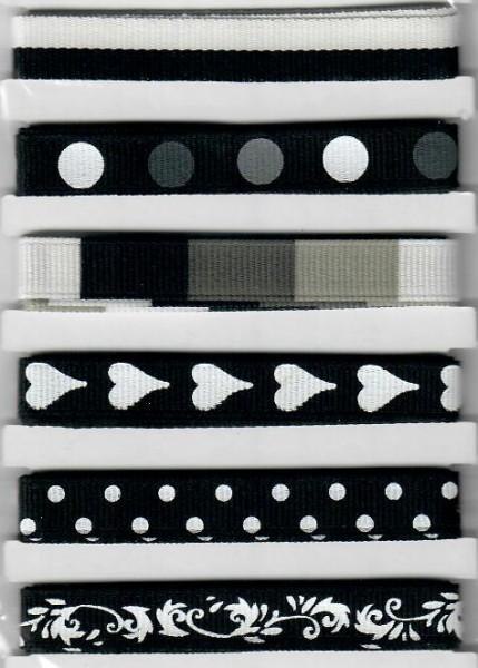 Design Bänder schwarzer Mix