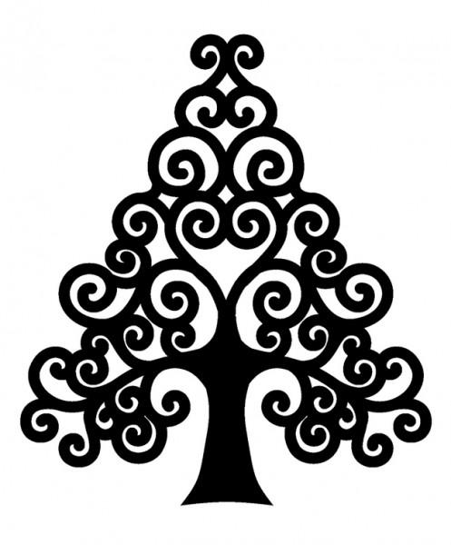 Holzstempel Weihnachtsbaum