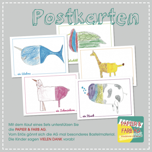 ZOO Postkarten 5er Set