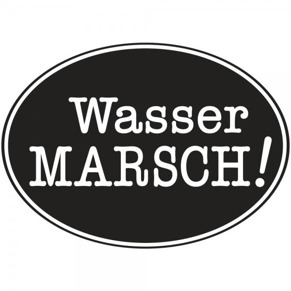Label Wasser Marsch!