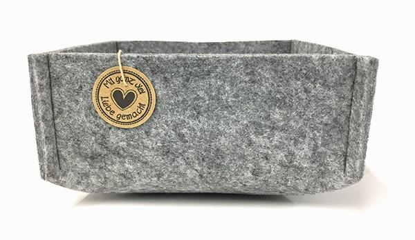 Filzschale grau