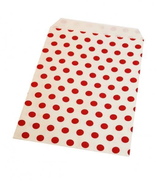 Papiertüten gepunktet rot