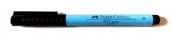 PITT artist pen Stärke B neon blau