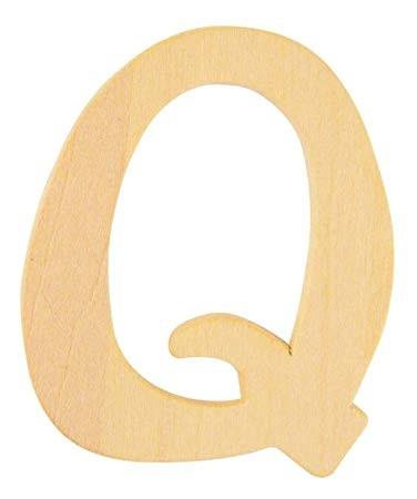 Holzbuchstabe Q