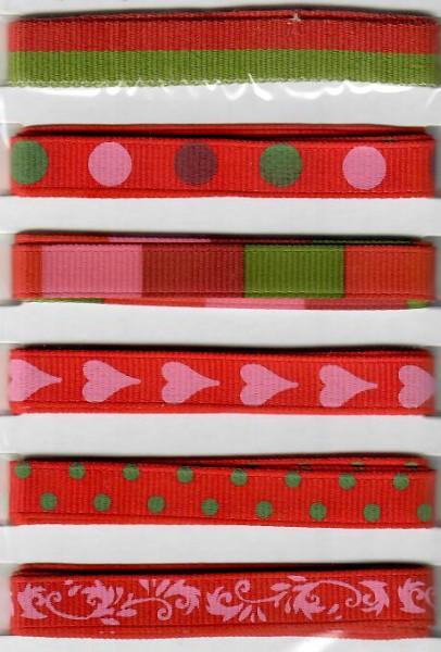 Design Bänder roter Mix