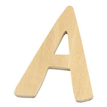 Holzbuchstabe A